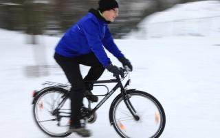 Radfahren im Schnee