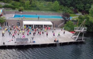 Outdoor-Zumba am Montiggler See