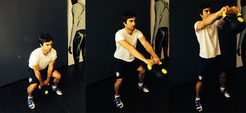 Riccardo Tonetti zeigt Fitness Übung Swing