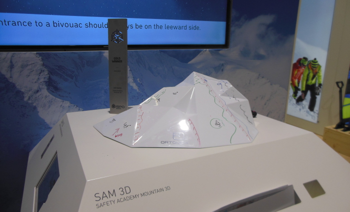 Das 3D Bergmodell SAM 3D von Ortovox
