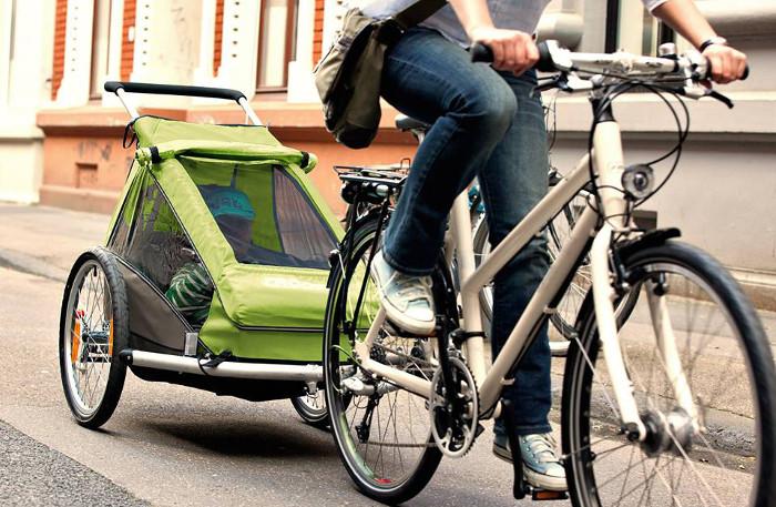 Kindertransport mit dem Fahrrad, Fahrradanhänger