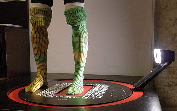 3D-Fußscan Skischuh
