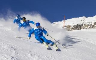 Ski Abfahrtsregel Kollisionsvermeidung