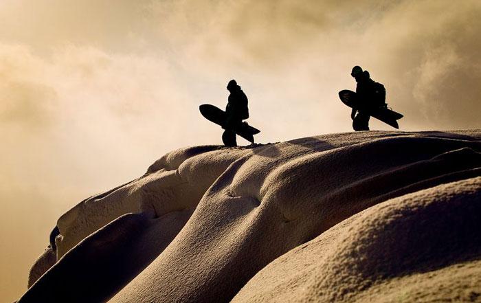 Snowboard Breite