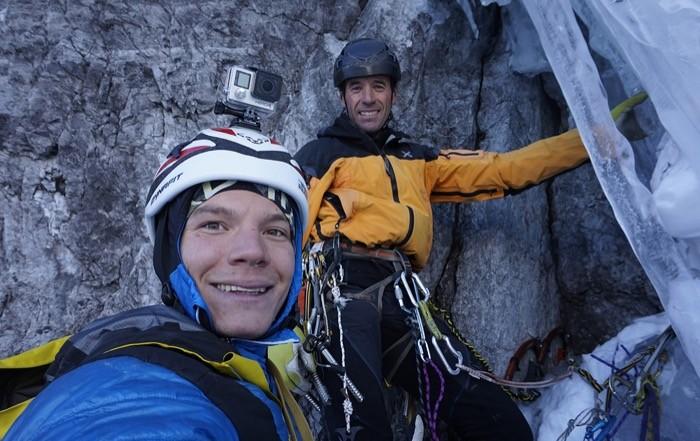 Daniel Ladurner Eisbesteigung Pleishornwasserfall