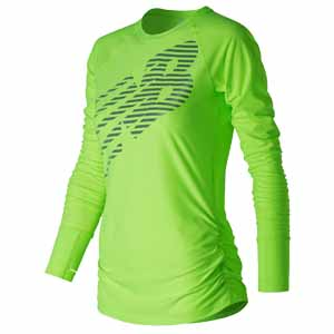 New Balance maglia running high vizibility donna