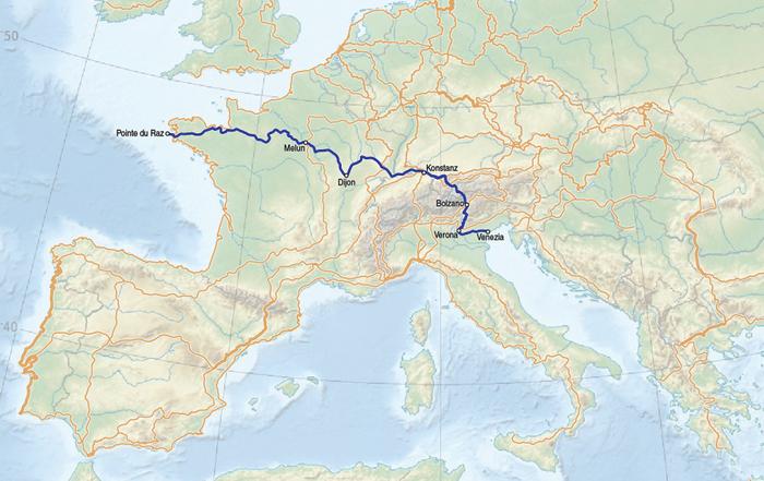 Der Europäische Fernwanderweg E5