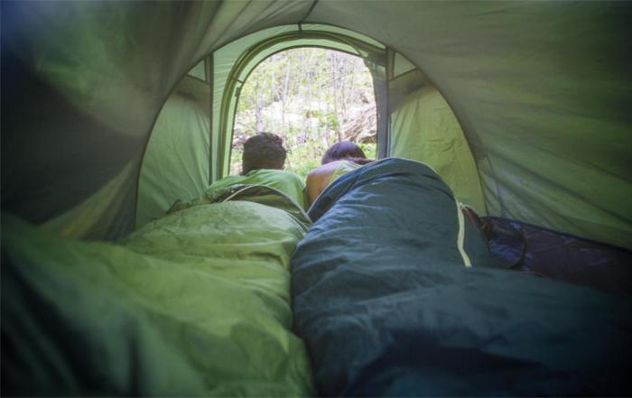 Schlafen im Freien