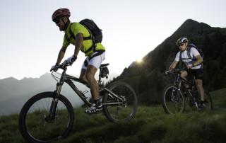 Tour in mountain-bike